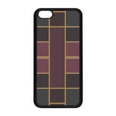 Vertical And Horizontal Rectangles Apple Iphone 5c Seamless Case (black)