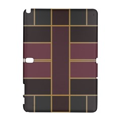 Vertical And Horizontal Rectangles Samsung Galaxy Note 10 1 (p600) Hardshell Case