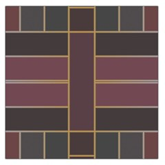 Vertical And Horizontal Rectangles Satin Scarf
