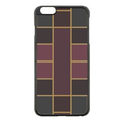 Vertical and horizontal rectangles Apple iPhone 6 Plus Black Enamel Case