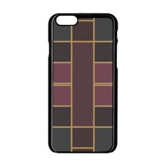 Vertical And Horizontal Rectangles Apple Iphone 6 Black Enamel Case