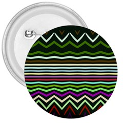 Chevrons And Distorted Stripes 3  Button