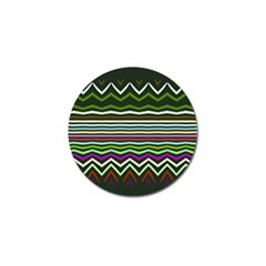 Chevrons And Distorted Stripes Golf Ball Marker