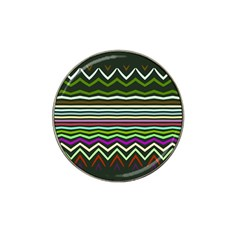 Chevrons And Distorted Stripes Hat Clip Ball Marker (10 Pack)