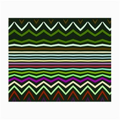 Chevrons And Distorted Stripes Small Glasses Cloth