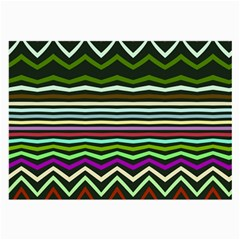 Chevrons And Distorted Stripes Large Glasses Cloth (2 Sides)