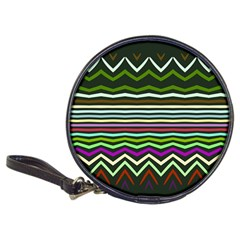 Chevrons And Distorted Stripes Classic 20 Cd Wallet