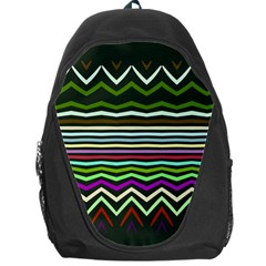 Chevrons And Distorted Stripes Backpack Bag