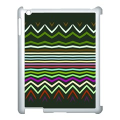 Chevrons And Distorted Stripes Apple Ipad 3/4 Case (white)