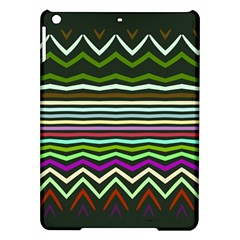 Chevrons And Distorted Stripes Apple Ipad Air Hardshell Case
