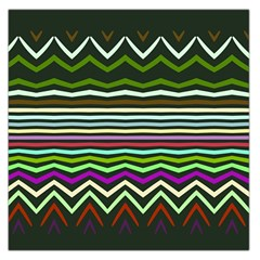 Chevrons and distorted stripes Satin Scarf