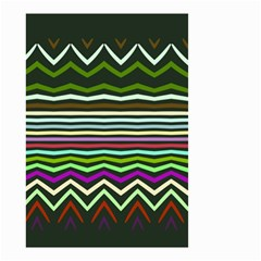Chevrons and distorted stripes Small Garden Flag