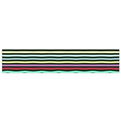 Chevrons and distorted stripes Flano Scarf
