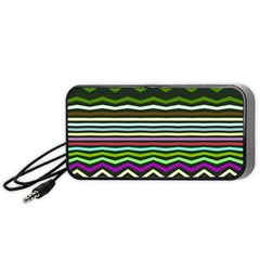 Chevrons and distorted stripes Portable Speaker