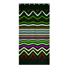Chevrons And Distorted Stripesshower Curtain 36  X 72