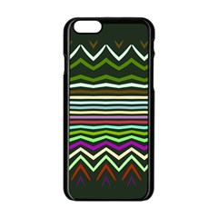 Chevrons and distorted stripes Apple iPhone 6 Black Enamel Case
