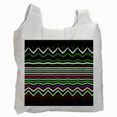 Chevrons And Distorted Stripes Recycle Bag