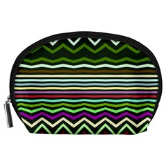 Chevrons And Distorted Stripes Accessory Pouch