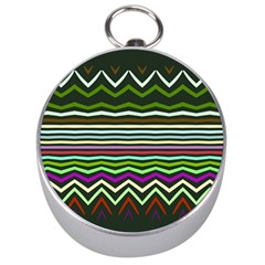 Chevrons and distorted stripes Silver Compass