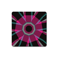 Striped Hole Magnet (square)