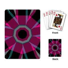 Striped Hole Playing Cards Single Design