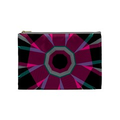 Striped Hole Cosmetic Bag (medium)