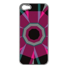 Striped Hole Apple Iphone 5 Case (silver)