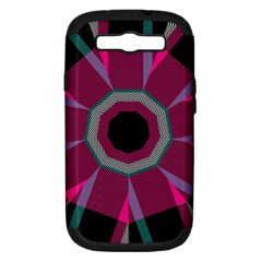 Striped Hole Samsung Galaxy S Iii Hardshell Case (pc+silicone)