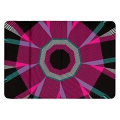 Striped Hole Samsung Galaxy Tab 8 9  P7300 Flip Case