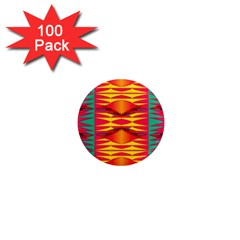 Colorful Tribal Texture 1  Mini Magnet (100 Pack)