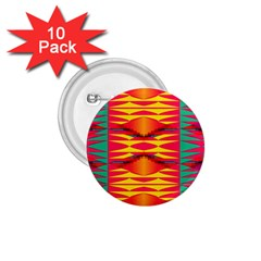 Colorful Tribal Texture 1 75  Button (10 Pack)