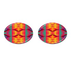 Colorful Tribal Texture Cufflinks (oval)