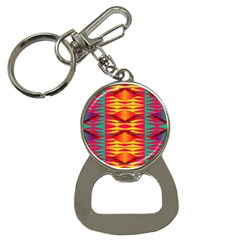 Colorful Tribal Texture Bottle Opener Key Chain