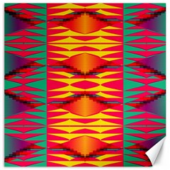 Colorful Tribal Texture Canvas 16  X 16