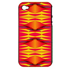 Colorful Tribal Texture Apple Iphone 4/4s Hardshell Case (pc+silicone)