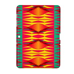 Colorful tribal texture Samsung Galaxy Tab 2 (10.1 ) P5100 Hardshell Case