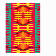 Colorful tribal texture Small Garden Flag