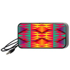 Colorful tribal texture Portable Speaker