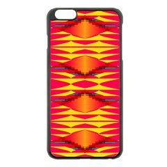 Colorful tribal texture Apple iPhone 6 Plus Black Enamel Case