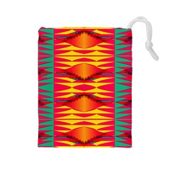 Colorful tribal texture Drawstring Pouch