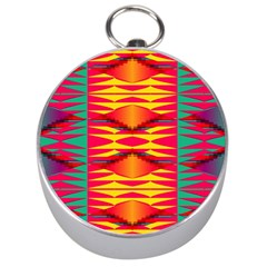 Colorful tribal texture Silver Compass