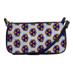 Orange Blue Honeycomb Pattern Shoulder Clutch Bag