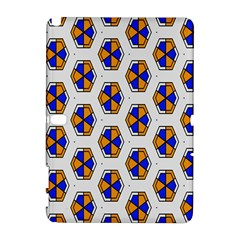 Orange Blue Honeycomb Pattern Samsung Galaxy Note 10 1 (p600) Hardshell Case