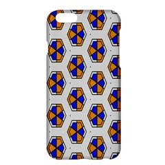 Orange blue honeycomb pattern	Apple iPhone 6 Plus Hardshell Case