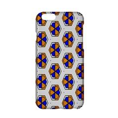 Orange blue honeycomb pattern Apple iPhone 6 Hardshell Case