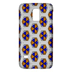 Orange Blue Honeycomb Patternsamsung Galaxy S5 Mini Hardshell Case