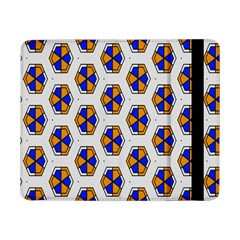 Orange Blue Honeycomb Pattern	samsung Galaxy Tab Pro 8 4  Flip Case