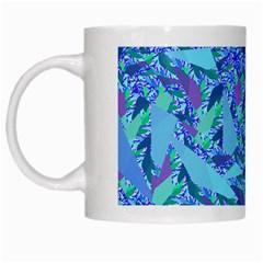 Blue Confetti Storm White Coffee Mug