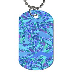 Blue Confetti Storm Dog Tag (two Sided)