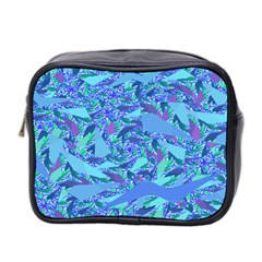 Blue Confetti Storm Mini Travel Toiletry Bag (two Sides)